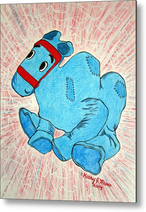Raggedy Ann And Andy Camel Metal Print featuring the painting Raggedy Camel by Kathy Marrs Chandler
