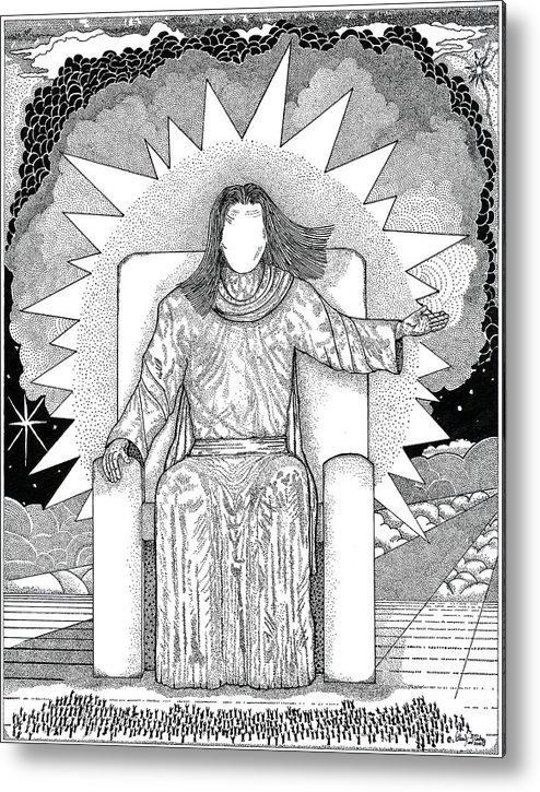 Revelation Metal Print featuring the drawing Revelation 20 by Glenn McCarthy Art and Photography