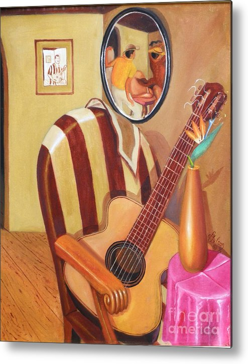 Interior Metal Print featuring the painting Rhythmic Echoes by David G Wilson