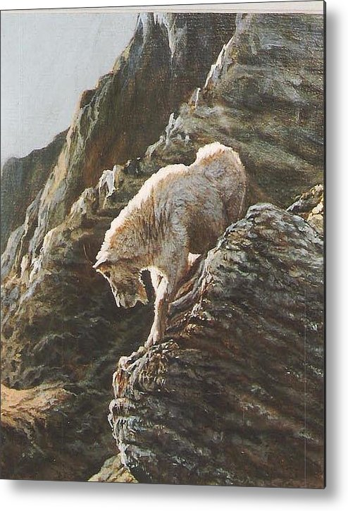 Goat Metal Print featuring the painting Rocky Mountain Goat by Steve Greco