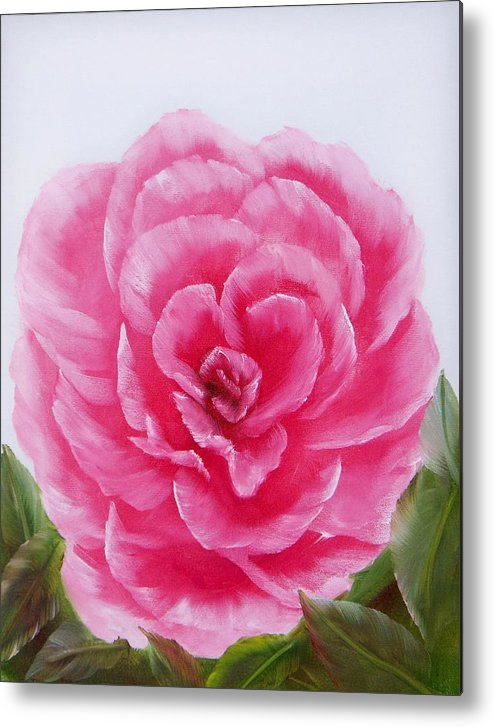 Oil Metal Print featuring the painting Rose by Joni McPherson