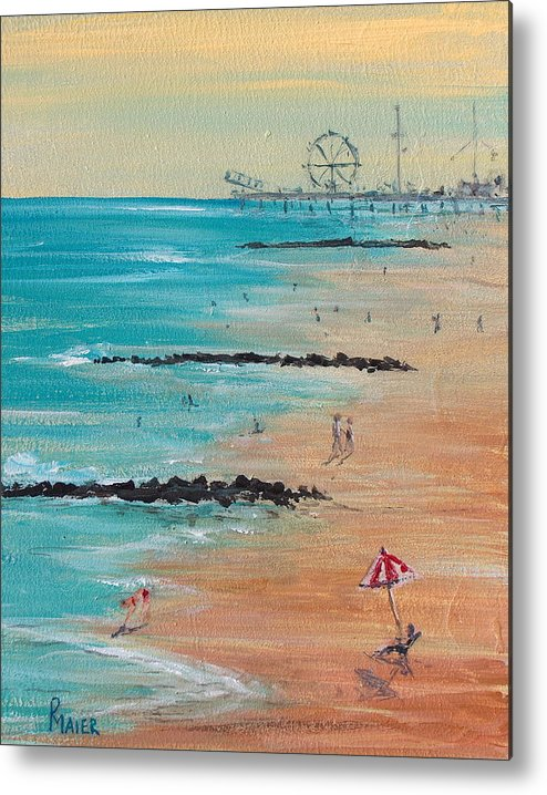 Beach Metal Print featuring the painting Seaside by Pete Maier