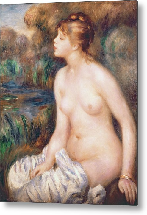 Seated Metal Print featuring the painting Seated Female Nude by Renoir
