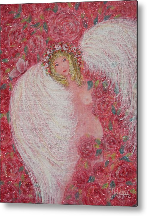 Angel Metal Print featuring the painting Secret Garden Angel 6 by Natalie Holland
