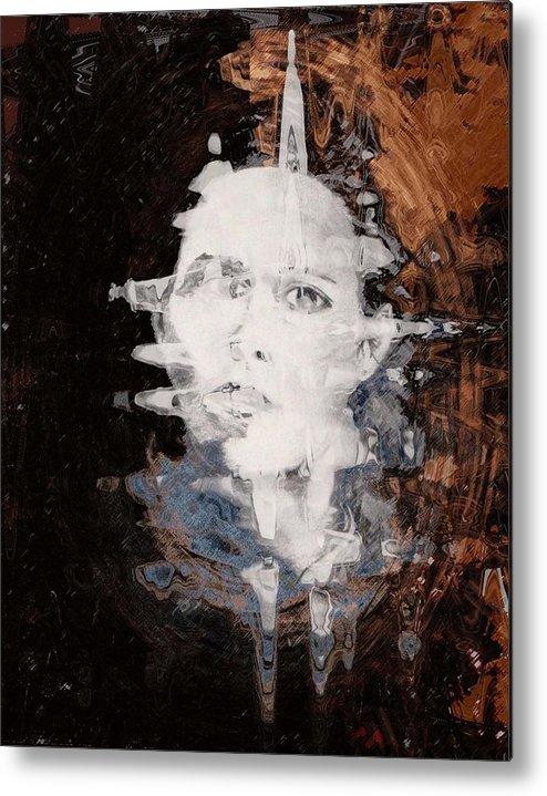 Portrait Metal Print featuring the digital art Silenced by LeeAnn Alexander