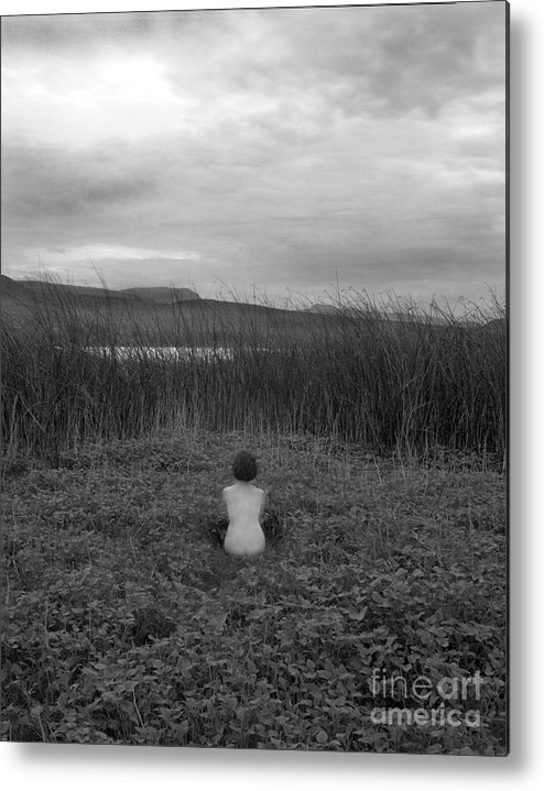 Nude Metal Print featuring the photograph Sitting Nude-nevada by Christian Slanec