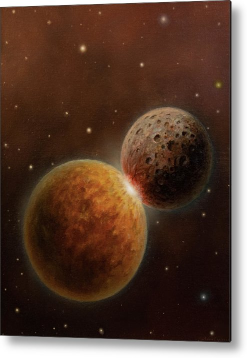 Space Metal Print featuring the painting So Long by Adam Espinosa