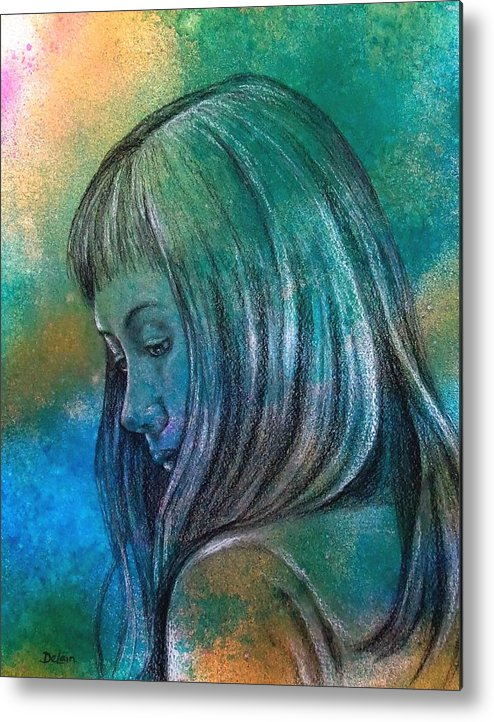 Sue Delain Metal Print featuring the painting Sorry by Susan DeLain