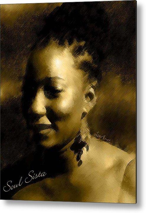 Portrait Metal Print featuring the photograph Soul Sista by LeeAnn Alexander