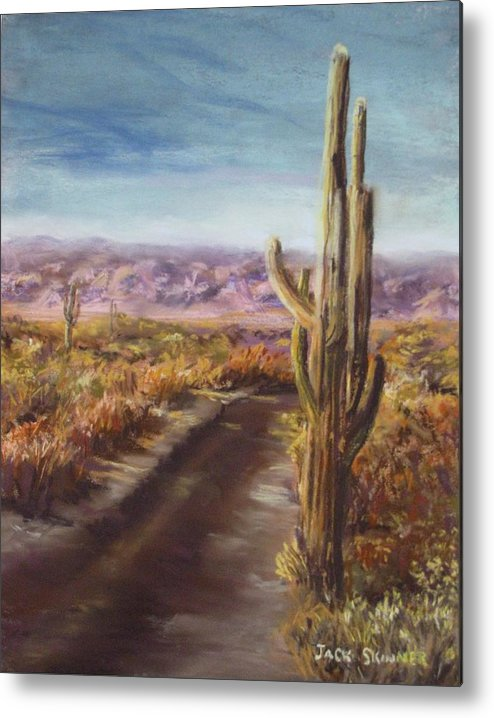 Desert Metal Print featuring the painting Southern Arizona by Jack Skinner