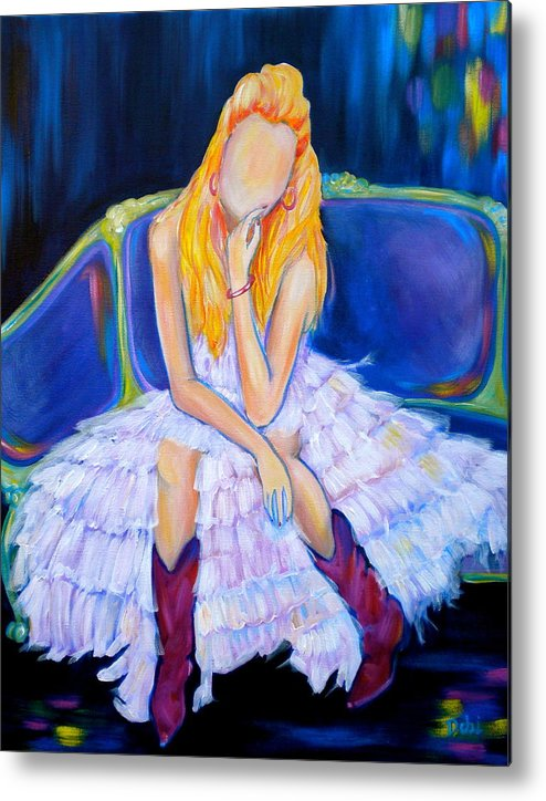 Southern Sass Metal Print featuring the painting Southern Sass by Debi Starr