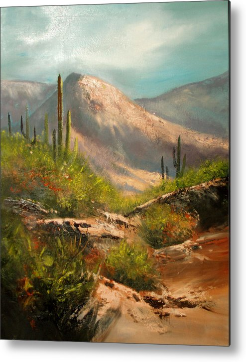 Landscape Metal Print featuring the painting Southwest Beauty by Robert Carver