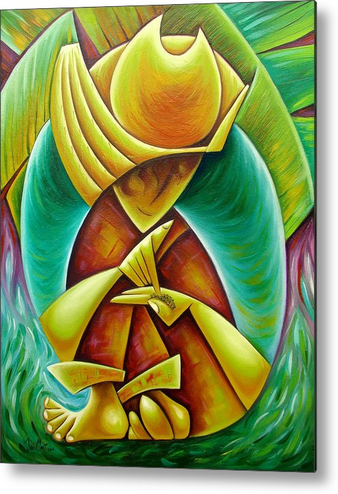 Metal Print featuring the painting Sower by Javier Martinez