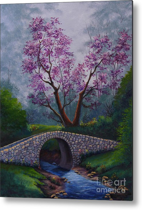 Landscape Metal Print featuring the painting Springtime by Jerry Walker