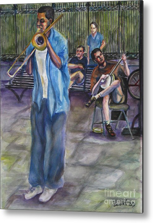 New Orleans Metal Print featuring the painting Square Slide by Beverly Boulet