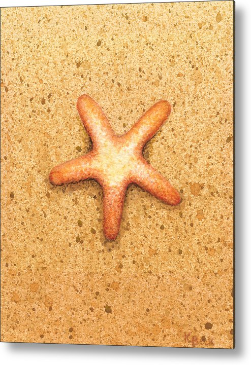 Print Metal Print featuring the painting Star Fish by Katherine Young-Beck