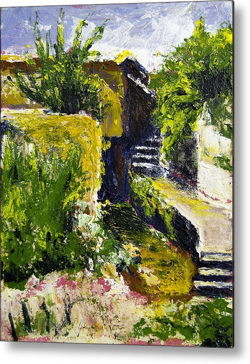 Steps Metal Print featuring the painting Steps To San Martin by Robert Sako