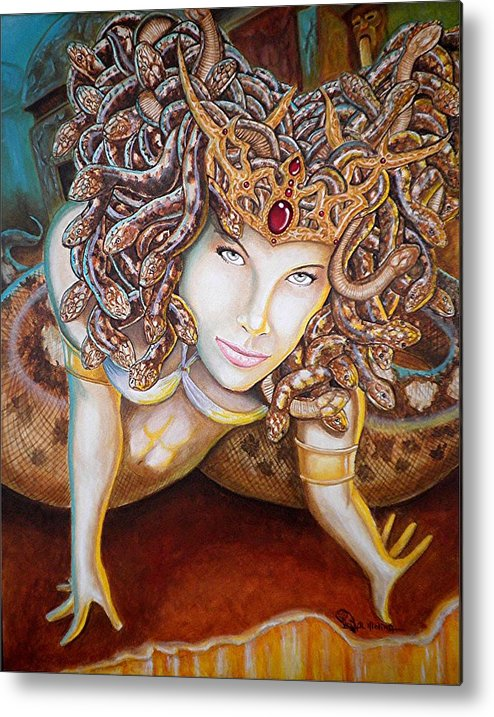 Medusa Metal Print featuring the painting Stone Cold Beauty by Al Molina