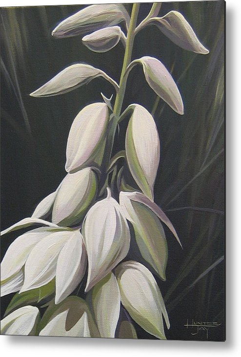 Yucca Plant Metal Print featuring the painting Summersilver by Hunter Jay