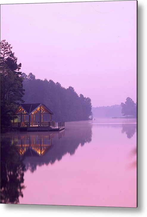 Lake Metal Print featuring the photograph Sunrise Over Lake Jeanette. by Robert Ponzoni