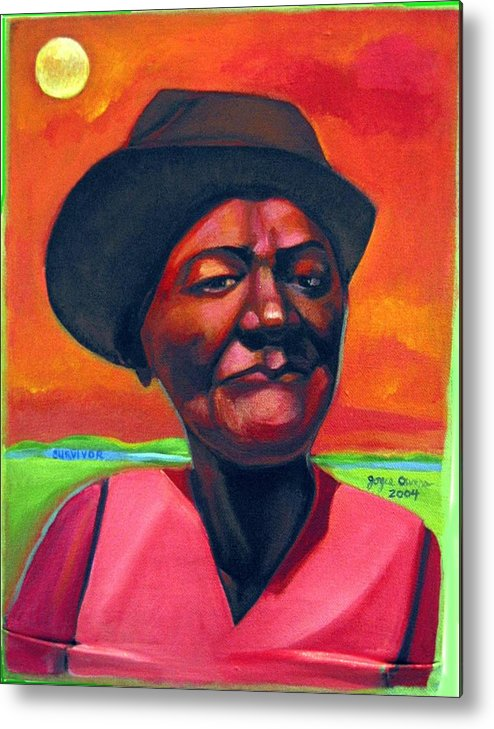 African Metal Print featuring the painting Survivor Spirit Mollie by Joyce Owens