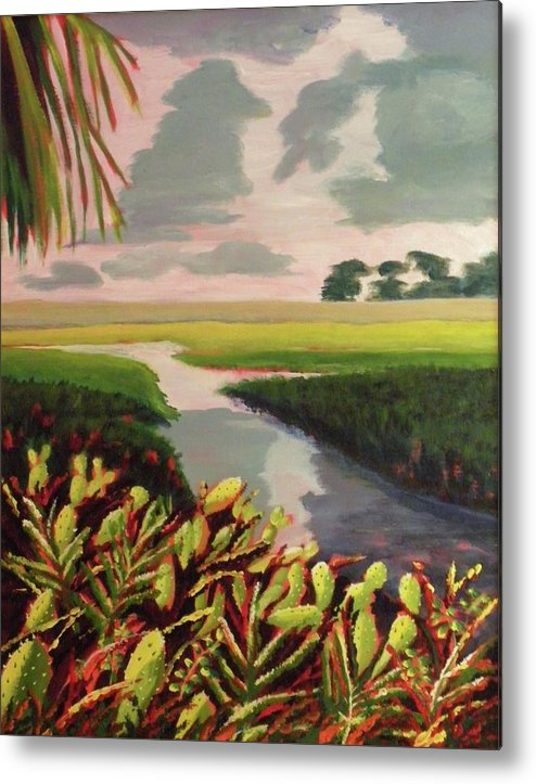 River Metal Print featuring the painting Suwanee River Delta by CB Woodling