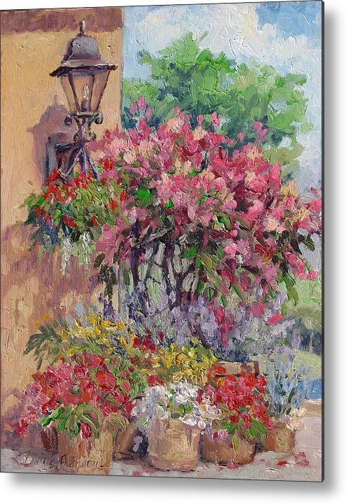 Flowering Trees Metal Print featuring the painting Taste Of Italy by L Diane Johnson