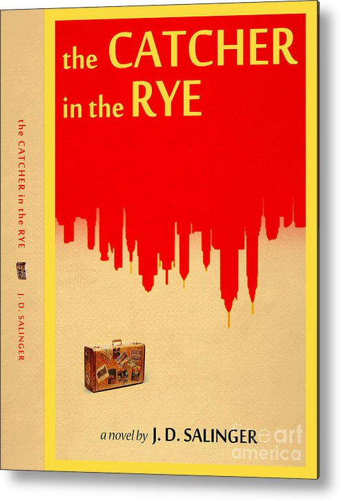 The Catcher In The Rye Book Cover Movie Poster Art 4 Metal Print By