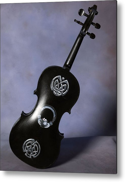 Violin Metal Print featuring the painting The Celtic Lady 3 by Richard Le Page