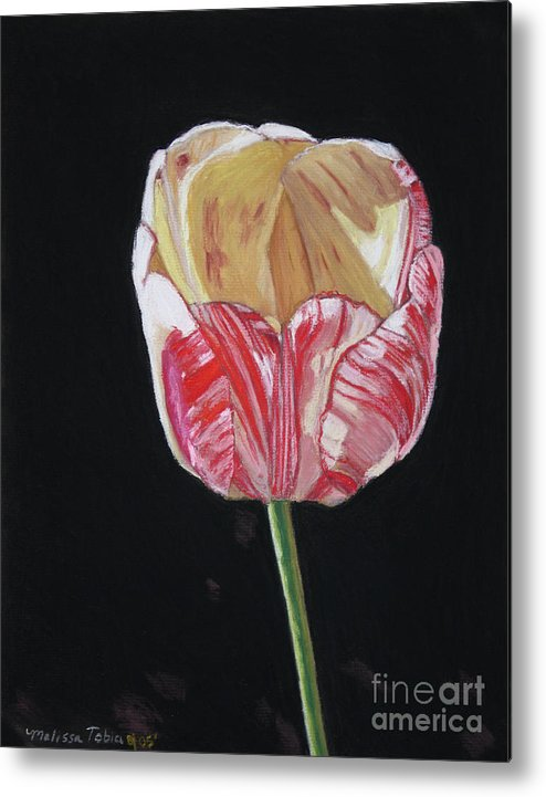 Botanical Metal Print featuring the painting The Tulip by Melissa Tobia