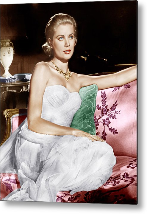 1950s Portraits Metal Print featuring the photograph To Catch A Thief, Grace Kelly, 1955 by Everett