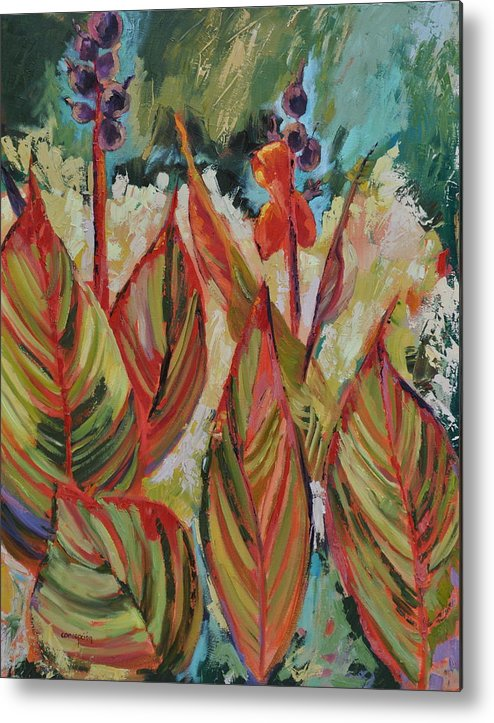 Tropicana Metal Print featuring the painting Tropicana by Ginger Concepcion
