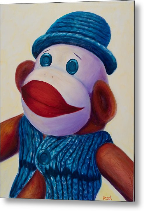 Children Metal Print featuring the painting Uncle Frank by Shannon Grissom
