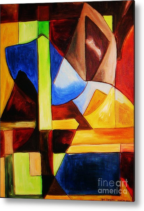 Acrylic Painting Metal Print featuring the painting Unity by Yael VanGruber