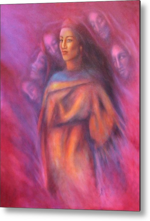 Native American Metal Print featuring the painting Untitled 1 by Elizabeth Silk