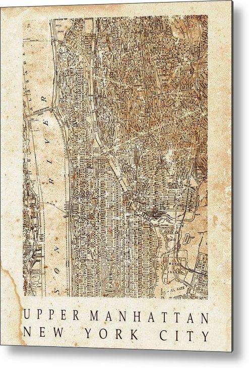 Upper Manhattan Metal Print featuring the mixed media Upper Manhattan by Malcolm Watson