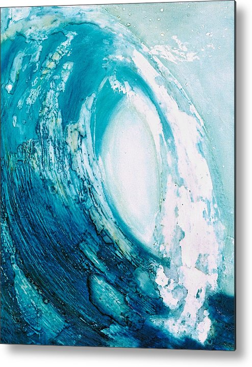 Wave Metal Print featuring the painting wave VIII by Martine Letoile