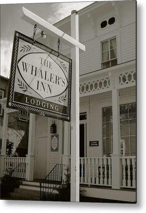 Mystic Metal Print featuring the photograph Whaler's Inn by Heather Weikel