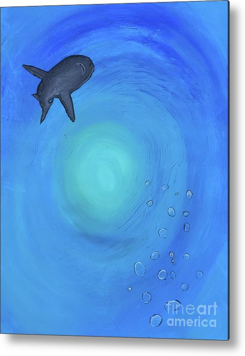 Diving Metal Print featuring the painting Wild Beauty by Buffy Heslin