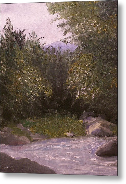 Landscape Metal Print featuring the painting Wilderness by Pamela Wilson