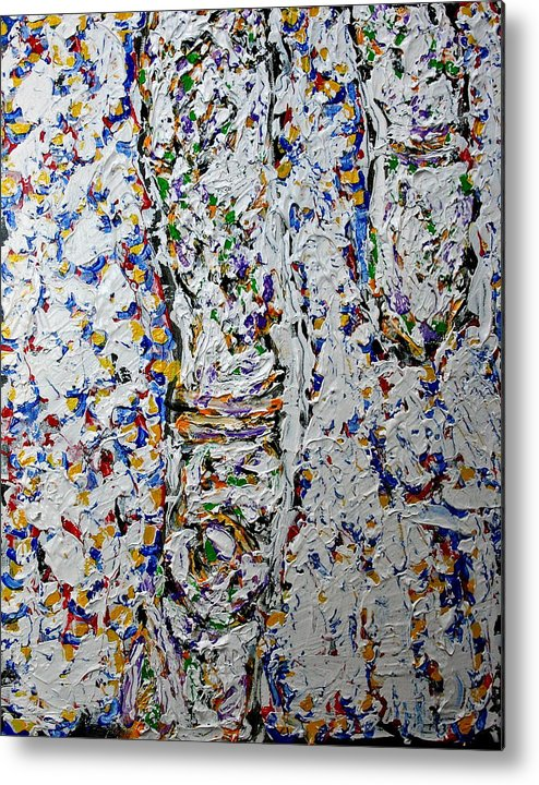 New Mexico Metal Print featuring the painting Winter Cottonwood Twigs Sold by Ray Petersen