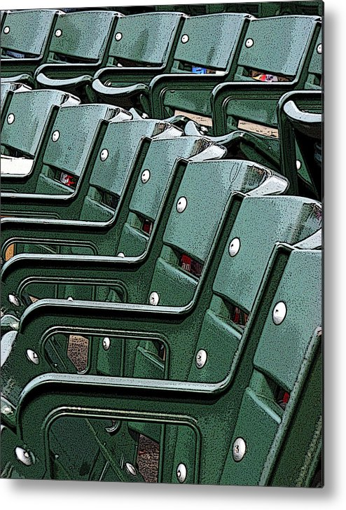 In Focus Metal Print featuring the photograph Wrigley Abstract by Joanne Coyle