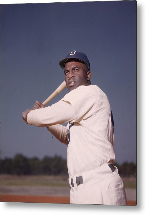 People Metal Print featuring the photograph Jackie Robinson by Hulton Archive