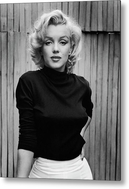 Timeincown Metal Print featuring the photograph Portrait Of Marilyn Monroe by Alfred Eisenstaedt