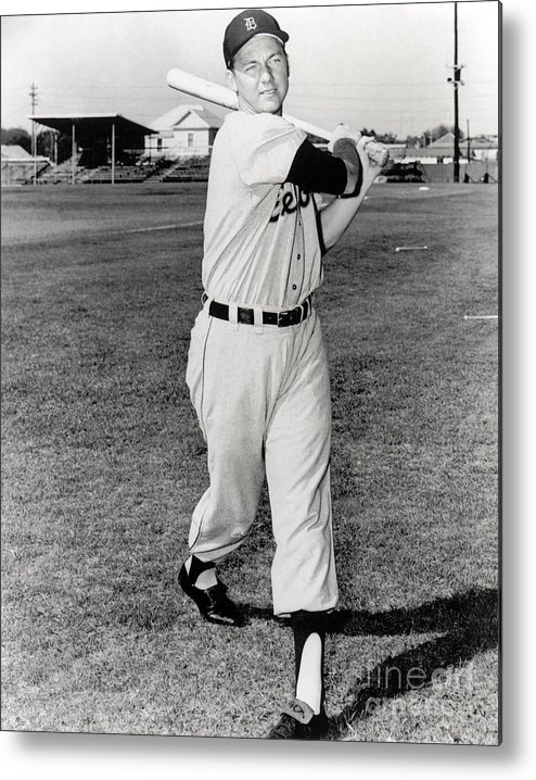 American League Baseball Metal Print featuring the photograph Al Kaline by National Baseball Hall Of Fame Library