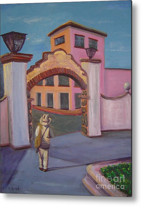 Mexico Metal Print featuring the painting Arco De Jiutepec by Lilibeth Andre