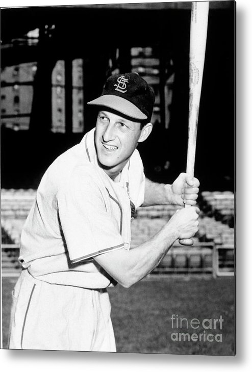 Professional Sport Metal Print featuring the photograph Stan Musial by National Baseball Hall Of Fame Library