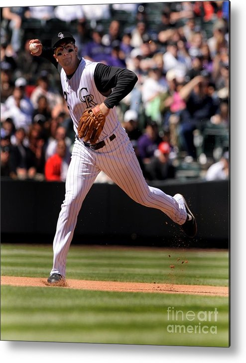 People Metal Print featuring the photograph Troy Tulowitzki by Steve Dykes