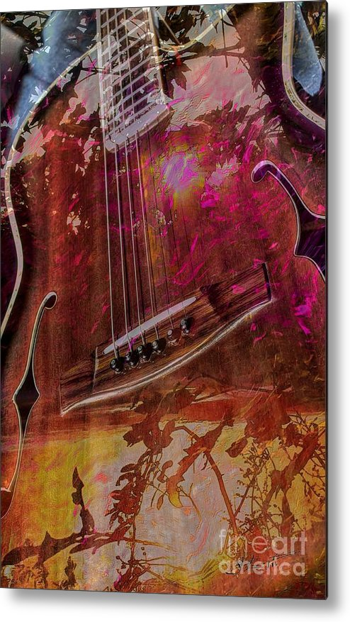 Acoustic Metal Print featuring the photograph A Tune In The Woods By Steven Langston by Steven Lebron Langston