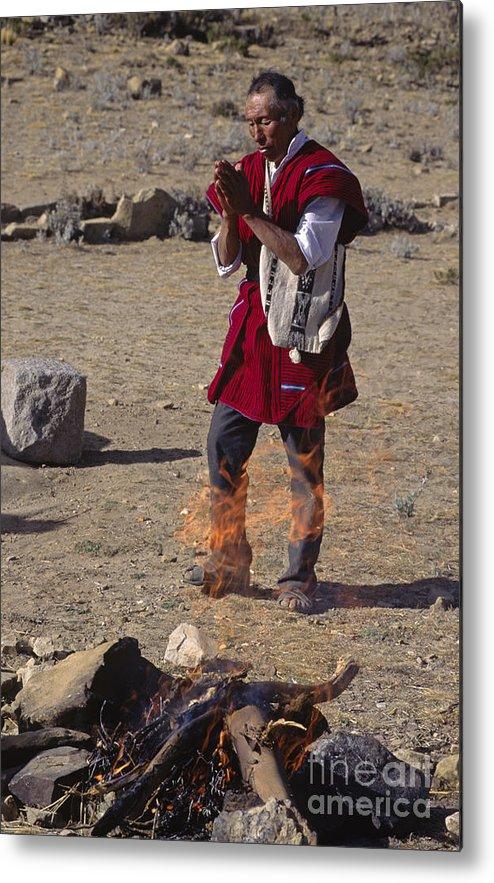 Bolivia Metal Print featuring the photograph Bolivian Shaman - Isle Del Sol Peru by Craig Lovell